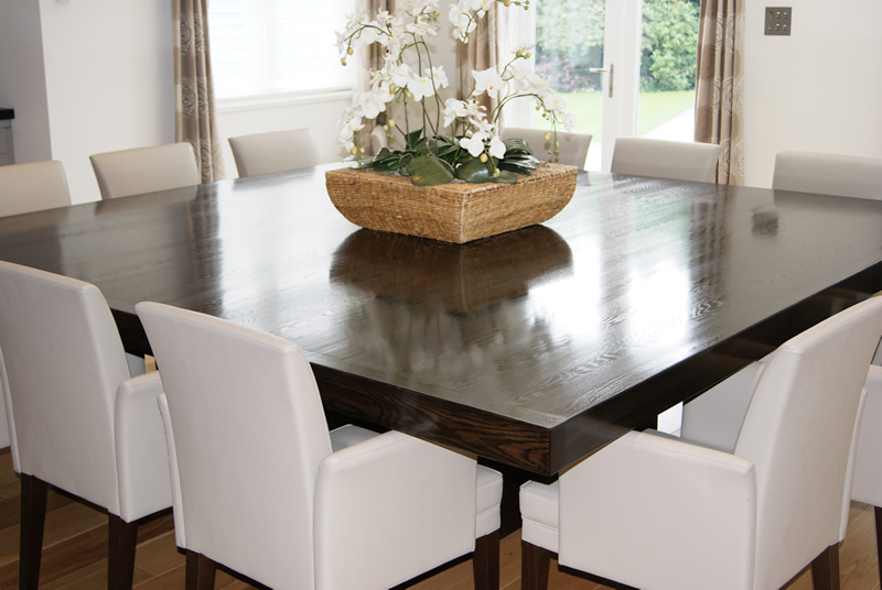 Wood care and restoration portfolio finishing touches for Dining room 12 seater table